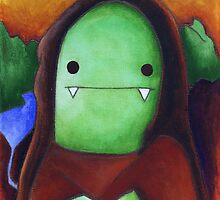 Monster Lisa (#001 of the Monster Imitates Art Collection) by paperheroes