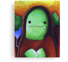 Monster Lisa (#001 of the Monster Imitates Art Collection) Canvas Print