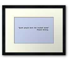 Quiet People Framed Print