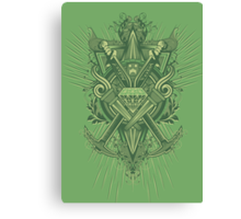 Crest Craft Green Canvas Print