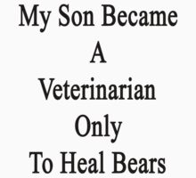 My Son Became A Veterinarian Only To Heal Bears by supernova23
