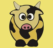 ღ°㋡Cute Brindled Golden Cow Clothing & Stickers㋡ღ° by Fantabulous