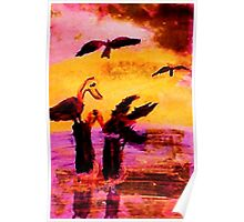 Impending storm, watercolor Poster