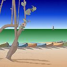 Beach scene illustration by Jeff Knapp