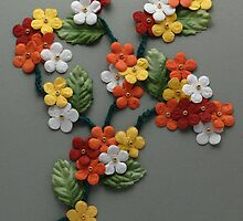 Papercraft colorful flowers by Jeff Knapp