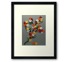 Papercraft colorful flowers Framed Print