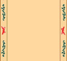 Vertical valentine border design by Jeff Knapp