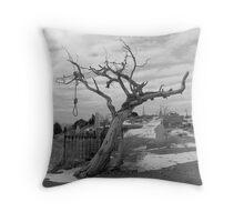 Hanging Tree -  Virginia City, Nevada Throw Pillow