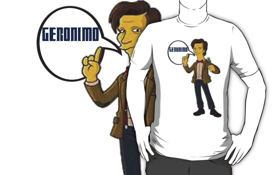 Doctor Who Geronimo The Simpsons by rachick123