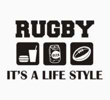 Eat Drink Play Rugby by SportsT-Shirts