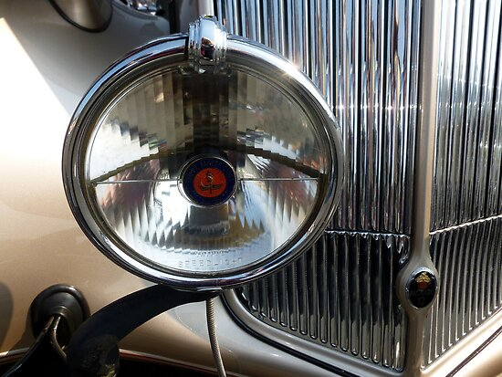 1937 Packard-Super 8 ~ Road Light by Elaine Bawden