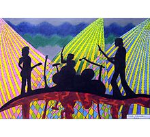 369 - ROCK BAND - DAVE EDWARDS - COLOURED PENCILS - 2012 Photographic Print