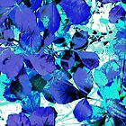 Blue Leaves by MSRowe Art and Design