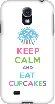 Keep Calm and Eat Cupcakes 3G  4G  4s iPhone case  by Andi Bird