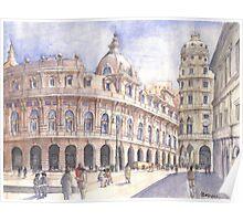 Genova, Piazza De Ferrari Poster