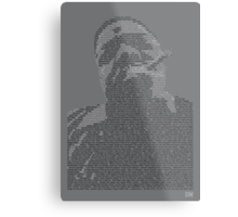 Biggie Lyric Portrait Metal Print
