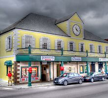 Stormy day on Bay street in Downtown Nassau, The Bahamas by 242Digital