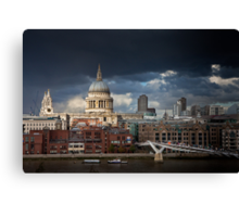 St Pauls and Millenium Bridge Canvas Print