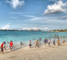 The Beach at Arawak Cay in Nassau, The Bahamas by Jeremy Lavender Photography