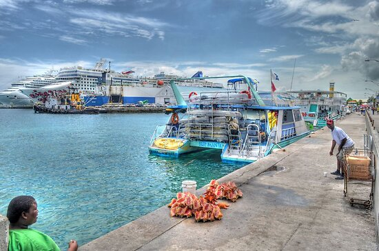 Prince George Wharf in Nassau Harbour, The Bahamas by 242Digital