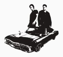 Sam and Dean by favoritedarknes