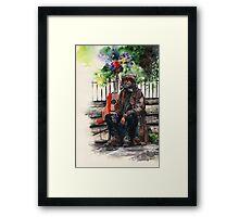 Glastonbury Man Framed Print
