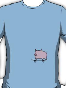 Skating Pig, Loving Life. T-Shirt