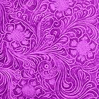 Pink Leather Look Vintage Floral Design by artonwear