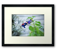 Superman To The Rescue Framed Print