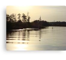 Sunset on Bear Creek 9-25-2012 Canvas Print