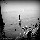 Fishing in the lake by Kajungurl