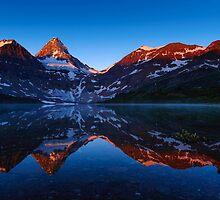 Assiniboine Sunrise by Noppawat Charoensinphon