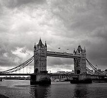 A brewing storm - Tower Bridge - London - Britain by Norman Repacholi