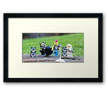 Rock Band Jamming Framed Print