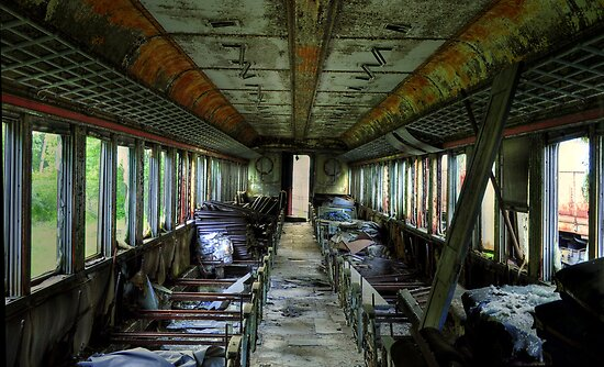 Internal- Abandoned Train by MJD Photography  Portraits and Abandoned Ruins