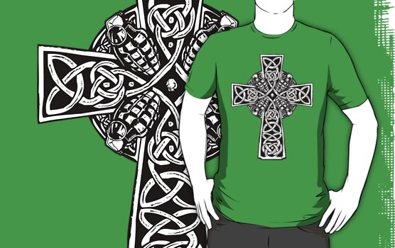 Irish Cross With Grenades (BW edition) by ZugArt