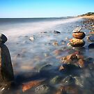 Pile Of Stones On Ryder Beach North Truro MA by capecodart
