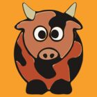 Cute Brindled Cow Clothing &amp; Stickers by Fantabulous