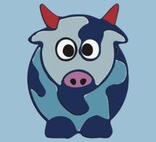 ღ°㋡Cute Brindled Cow with Red Horns Clothing & Stickers㋡ღ° by Fantabulous