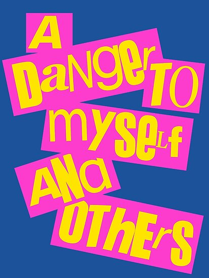 A Danger To Myself and Others [pink/yellow] by nimbusnought