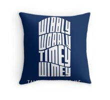 Talk Whovian To Me Throw Pillow