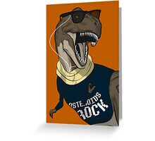 Hipstereosaurus Rex (Version 2) Greeting Card