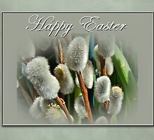 Happy Easter Greeting Card - Pussywillows by MotherNature