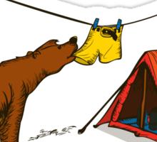 Bear and Bird Sticker