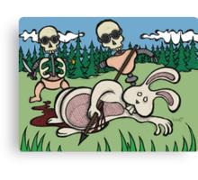 Teddy Bear And Bunny - Baby Doll Robot Killers Canvas Print