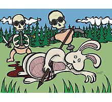 Teddy Bear And Bunny - Baby Doll Robot Killers Photographic Print