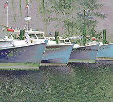 Oyster Boats on the Chesapeake by Eileen McVey