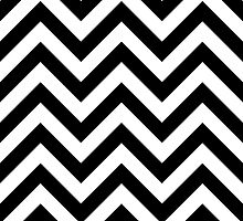 zigzag chevron pattern in black by nadil