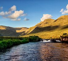 Bundorragha river Delphi Co.Mayo Ireland. by MickBourke