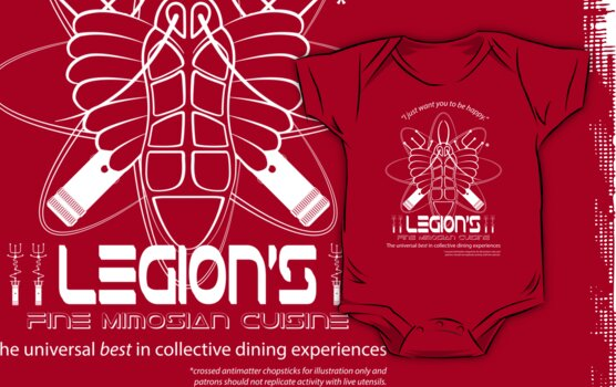 Legion's Fine Cuisine - White (Red Dwarf) by Malc Foy